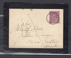 Brief Van Tubize Naar Bruxelles - 1884-1891 Leopold II