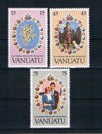 Vanuatu 1981 Charles/Diana Mi.Nr. 606/08 Kpl. Satz ** - Vanuatu (1980-...)