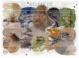 MNH 2018 Nederland Reptiles Amphibians Snake Frog Salamander Kikker Slang - Reptiles & Amphibians