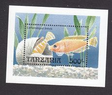 Tanzania, Scott #895, Mint Never Hinged, Fish, Issued 1992 - Tanzania (1964-...)