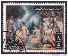 """Ajman 1972 """" Le Grandi Bagnanti """" -  Quadro Dipinto Da P. Cezanne Preobliterato Impressionismo Paintings - Nudes"""