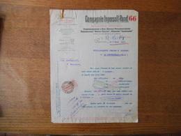 PARIS COMPAGNIE INGERSOLL-RAND PERFORATION MECANIQUE 33 RUE REAUMUR IIIe COURRIER DU 6 MARS 1922 TIMBRE QUITTANCES - France