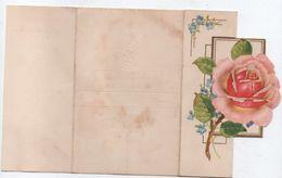 Carte De Bonne Fête à 3 Volets / Télégramme De Bonheur / Roses/ / Vers 1960  CFA20 - Felicitaciones (Fiestas)