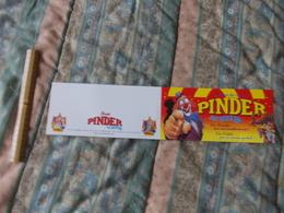 Carte Du Cirque Pinder Jean Richard En Route En Piste - Pubblicitari