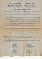 Ampsin (Amay) Ravitaillement Et Rationnement Guerre 40-45 - Non Classificati