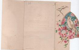 Carte De Joyeux Anniversaire à 3 Volets / Télégramme De Bonheur / Rossignol Et Cerisier à Fleurs/ / Vers 1960  CFA21 - Holidays & Celebrations