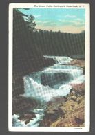 Letchworth State Park - The Lower Falls - 1950 - Linen - NY - New York