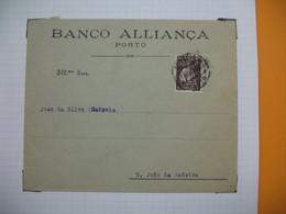 Portugal  Lettre    Perforé Perfin  Perfurado    :  BA 24    De S. Joao Da Madeina   Banco Allianca - 1910-... République