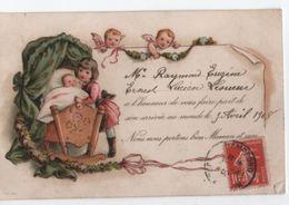 Carte Postale /Faire-part De Naissance / Raymond LESUEUR/ Riguel/Marolles/E & L //1908            FPN10 - Naissance & Baptême