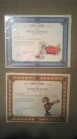 2 Cartes & Enveloppes Diplôme GASTON LAGAFFE - Andere Sammlungen