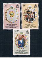 British Virgin Islands 1981 Charles/Diana Mi.Nr. 408/10 Kpl. Satz ** - British Virgin Islands