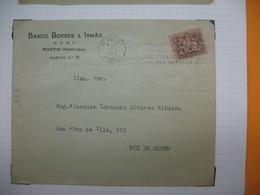 Portugal  Lettre 1956   Perforé Perfin  Perfurado    :  B&I  40 3°sector  Porto   Banco Borges & Irmao - 1910-... République