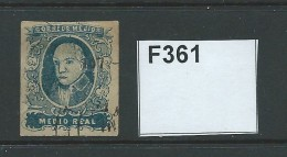 Mexico 1856 ½r Blue Without District Overprint - Mexico
