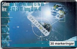 Sweden - Telia - Checkpoint Earth - 01.1997, 30U, 3.500ex, Used - Sweden
