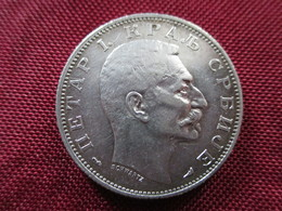 Serbie 2 Dinara 1915 Argent - Serbie