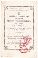 DP Albert P. DeBaenst ° Veurne 1802 † 1861 X Adèle Ollevier - Images Religieuses