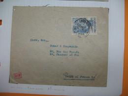 Portugal  Lettre Avec Censure Allemande Perforé Perfin  Perfurado :  BNV 45 De Lisoba  Pour La France Banco Reparticao - 1910-... Republic