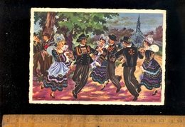 PONT AVEN Finistère Le Jabadao Danse Bretonne Bretagne Folklore Illustration Illustrateur Homualk - Pont Aven
