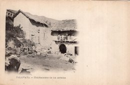 V12349 Cpa Amérique - Bolivie - Illavaya, Habtaciones De Los Arrieros - Bolivia