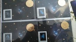 13-AUBAGNE-Zodiaque- 5 Encarts - 2014 - Monnaie-de-Paris....TOUS NUMEROTES - Monnaie De Paris