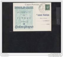 Carte Federale Journée Du Timbre 1942  Cambrai - Marcophilie (Lettres)