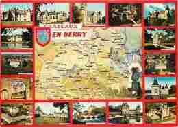 36 - Indre - Chateaux En Berry - Multivues - Voir Scans Recto-Verso - Autres Communes