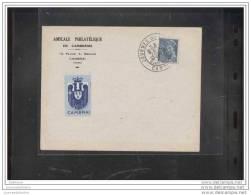 Enveloppe Locale Journée Du Timbre  1942 Cambrai - FDC