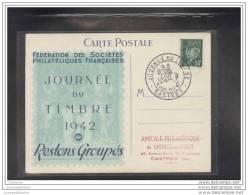 Carte Fédérale Journée Du Timbre 1942 Castres - FDC