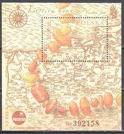 Poland 1993 Amber, Necklace, Map - Mi.m/s 121 -  MNH(**) - Postfrisch - Blocks & Sheetlets & Panes