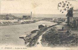 5. EPERNAY . LE QUAI DE MARNE .PETITE ANIMATION . OBLIT DU 10-8-1915 - Epernay