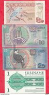 Surinam 4 Billets 2 En UNC Et 2 Dans L 'état Lot N °1 - Surinam