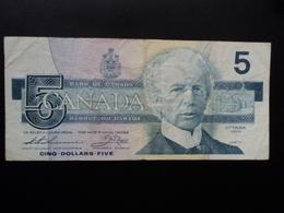 CANADA : 5 DOLLARS  1986  P 95b   TTB - Canada