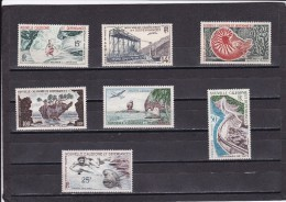 Nueva Caledonia Nº A66 Al A72 - Unused Stamps