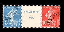 France YT N° 242A Paire Strasboug Oblitérée. B/TB. A Saisir! - Frankreich
