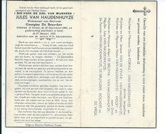 VURSTE    VANHAUDENHUYZE JULES 1882 - 1950 GENT - Religion & Esotericism