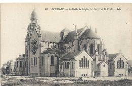 40. EPERNAY . L' ABSIDE DE L'EGLISE St-PIERRE Et St-PAUL . NON ECRITE - Epernay