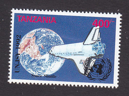 Tanzania, Scott #962, Mint Hinged, Space Shuttle, Issued 1992 - Tanzania (1964-...)