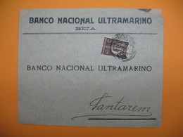 Portugal Lettre   Perforé Perfin  Perfurado :  BNU 45  - De Beja  Banco Nacional Ultramarino - 1910-... République