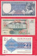 Surinam 3 Billets 1en UNC Et 2 Dans L 'état   Lot N °5 - Surinam