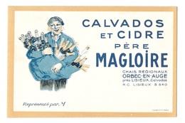 (19235-14) Carte De Représentant CALVADOS Et CIDRE PERE MAGLOIRE, ORBEC En AUGE Près LISIEUX - Agriculture