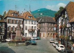 RIBEAUVILLE PLACE DE LA SINN/VEHICULES EN STATIONNEMENT(dil345) - Alsace