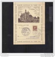 Carte Lettre Locale Journée Du Timbre 1943 Montlucon - Marcofilia (sobres)