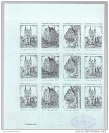 Demie Feuille Journée Du Timbre 1943 Angers Chateau,maison D´adam,cathedrale, - Philatelic Fairs