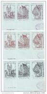 9 Vignettes Journée Du Timbre 1943 Angers Chateau,maison D´adam,cathedrale, - Philatelic Fairs