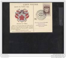 Carte Federale Journée Du Timbre 1944 Clermont Ferrand - Cartas Máxima