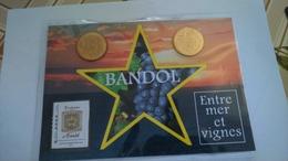 13 AUBAGNE Encart Bandol, JETON Entre Mer Et Vignes ET Appelation Bandol Contrôlée 2015, Monnaie De Paris......n°1874 - Monnaie De Paris