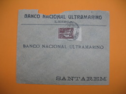 Portugal Lettre   Perforé Perfin  Perfurado :  BNU  ??? - De Guarda - Banco Nacional Ultramarino - 1910-... République