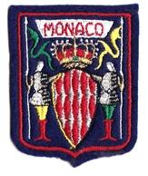 Ecusson Tissu - Monaco - Blason - Armoiries - Héraldique - Stoffabzeichen
