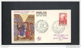 Enveloppe Fdc Journée Du Timbre 1954 Maison Carrée - 1950-1959