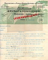 69- TARARE - RARE FACTURE ETS. BRUNAT & MONROCHER-MANUFACTURE RIDEAUX BRODES-GUIPURES-EXPOSITION BISCHWILLER 1925 - Textile & Vestimentaire